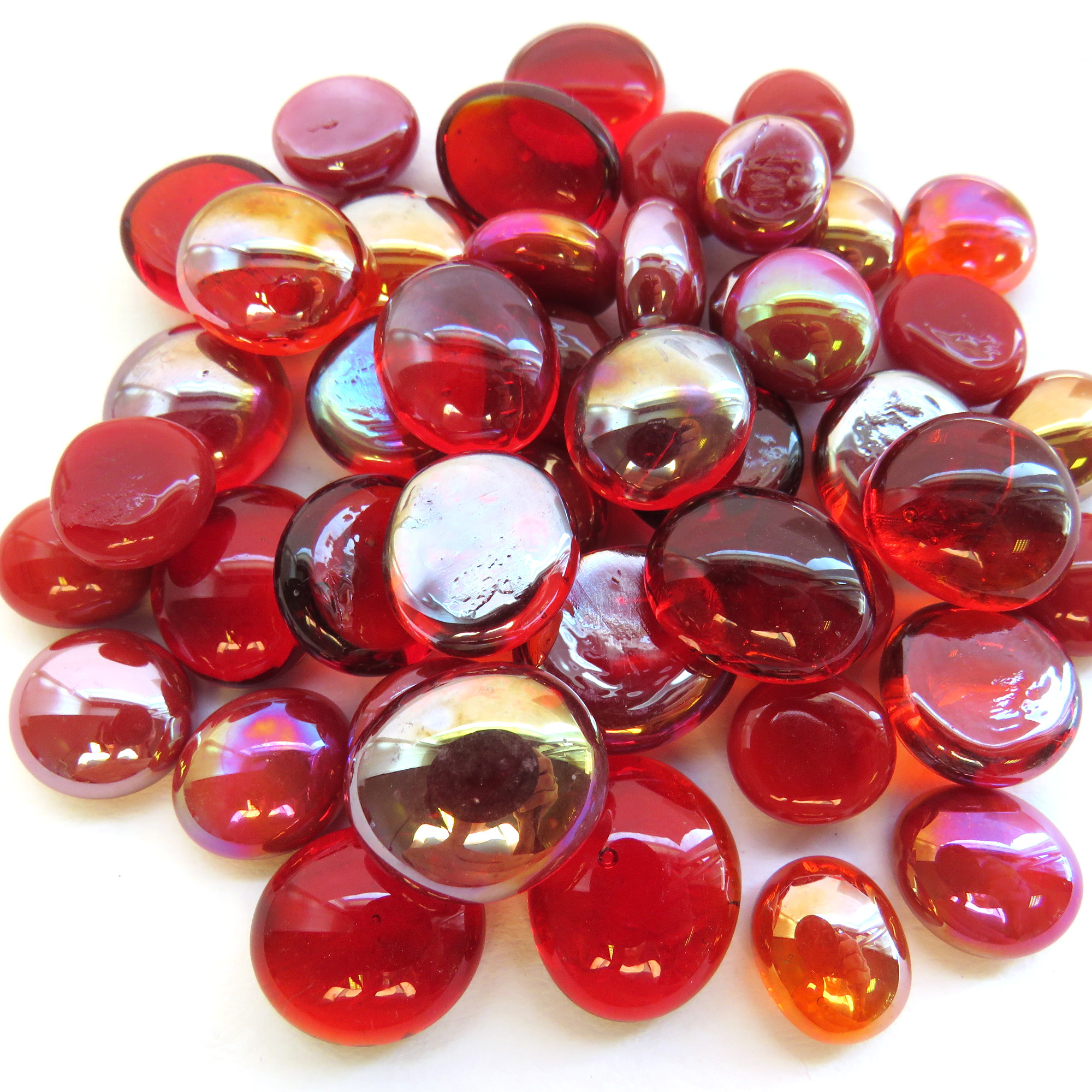 Mini Glass Gems: 9-13mm