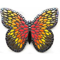 25cm Admiral Butterfly: Black, Red, Gold