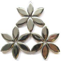 H02 Silver 25mm Petal