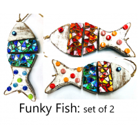 Funky Fish Hanger: Set of 2