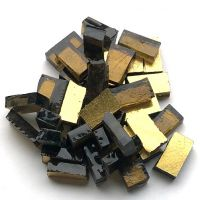 Gold Smalti on Brown Glass