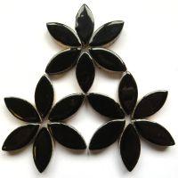 H1 Black 25mm Petal