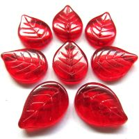 18mm Leaf: Clear Red