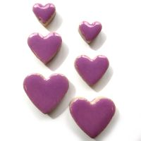 Pretty Purple Hearts H43