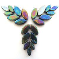 049p Iridised Black Petals: 50g