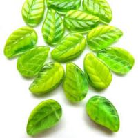 14mm Leaf: Green/Lime