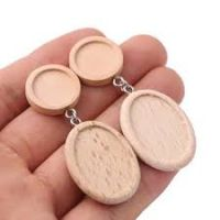 Wooden Double Drop Earrings