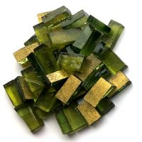 Gold Smalti on Olive Glass