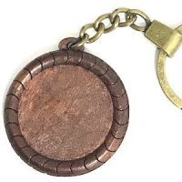 Wood and Brass Keyring: Classic