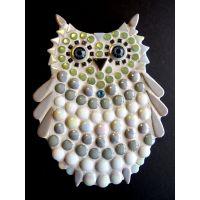 Owlet: 15cm White/Grey (Pack of 10)