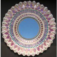 40cm Round Mirror: Wisteria***