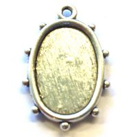 Oval Pendant [Silver Plated]