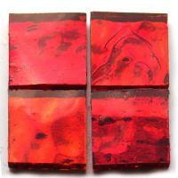 AR01 Red Wavy: 6 tiles