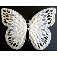 25cm Admiral Butterfly: White, Blue, Silver
